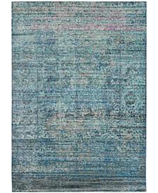 Mystique Blue and Multi 4' x 6' Area Rug