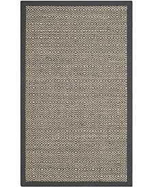 "Safavieh Natural Fiber Natural and Dark Gray 2'6"" x 4' Sisal Weave Area Rug"