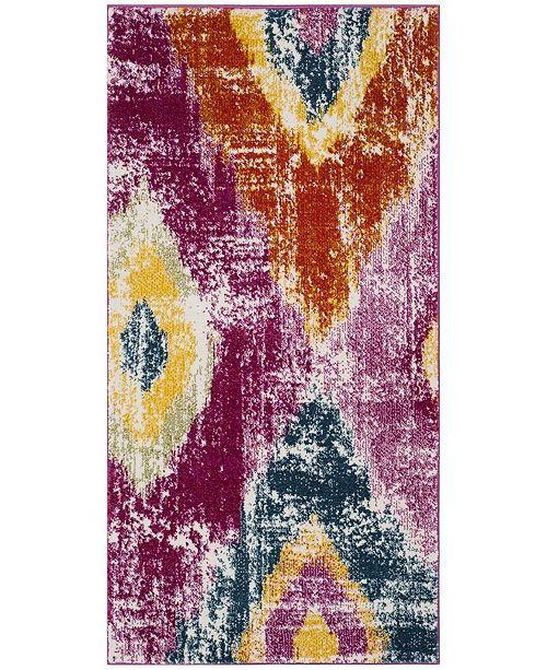 "Safavieh Watercolor Fuchsia and Orange 2'7"" x 5' Area Rug"