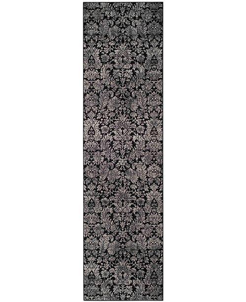 "Safavieh Vintage Black and Light Grey 2'2"" x 8' Runner Area Rug"