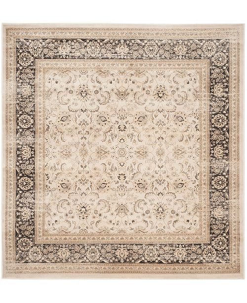 "Safavieh Vintage Ivory and Black 6'7"" x 6'7"" Square Area Rug"