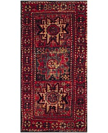 "Vintage Hamadan Red and Multi 2'7"" x 5' Area Rug"