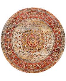Safavieh Vintage Persian Saffron and Cream 5' x 5' Round Area Rug
