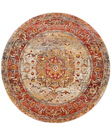 Safavieh Vintage Persian Saffron and Cream 5' x 5' Round Area Rug