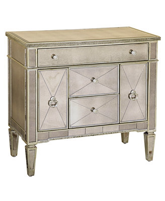 Marais Chest Mirrored Accent Chest Furniture Macy s