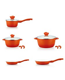Culinary Edge 8 Piece Ceramic Nonstick Die Cast Aluminum Cookware Set