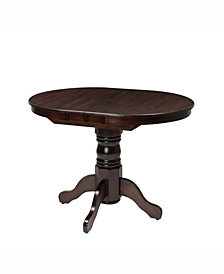 "CorLiving Extendable Stained Oval Pedestal Dining Table with 12"" Butterfly Leaf"