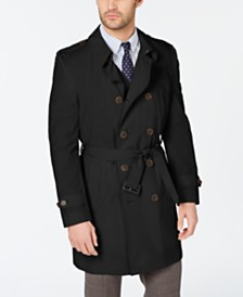 Lauren Ralph Lauren Men's Classic-Fit Stretch Water-Repellent Belted Double-Breasted Trench Coat