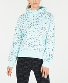 Nike Sportswear Logo-Print Fleece Hoodie