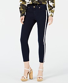 MICHAEL Michael Kors Izzy Petite Side-Striped Cropped Jeans