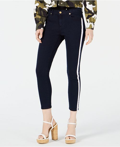 0943a8ea1c04 Michael Kors Izzy Side-Striped Cropped Jeans & Reviews - Jeans ...