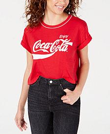 Freeze 24-7 Juniors' Coca-Cola Logo Graphic Ringer T-Shirt