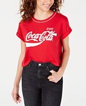 681156c86 Freeze 24-7 Juniors' Coca-Cola Logo Graphic Ringer T-Shirt
