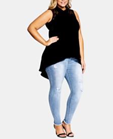 City Chic Trendy Plus Size Lace Bella Tunic
