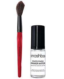 Smashbox Buildable Cheek Brush + Trial-Size Photo Finish Primer Water, Only $36 with any Blush purchase