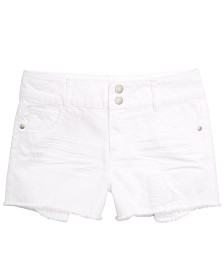 Epic Threads Big Girls Frayed Hem Denim Shorts, Created for Macy's