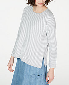 Eileen Fisher Striped  Top, Regular & Petite