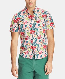 Polo Ralph Lauren Men's Big & Tall Classic Fit Printed Cotton Shirt