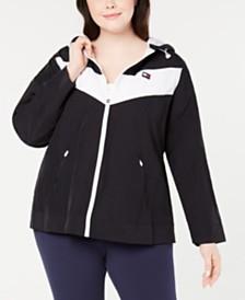 Tommy Hilfiger Sport Plus Size Colorblocked Logo Hoodie