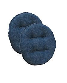 The Gripper Non-Slip Omni Tufted Bar Stool Cushion, Set of 2