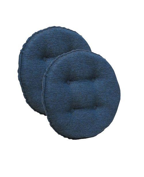 Klear Vu The Gripper Non-Slip Omni Tufted Bar Stool Cushion, Set of 2