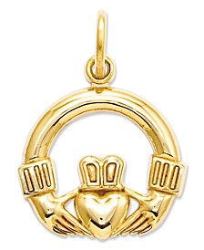14k Gold Charm, Claddagh Charm