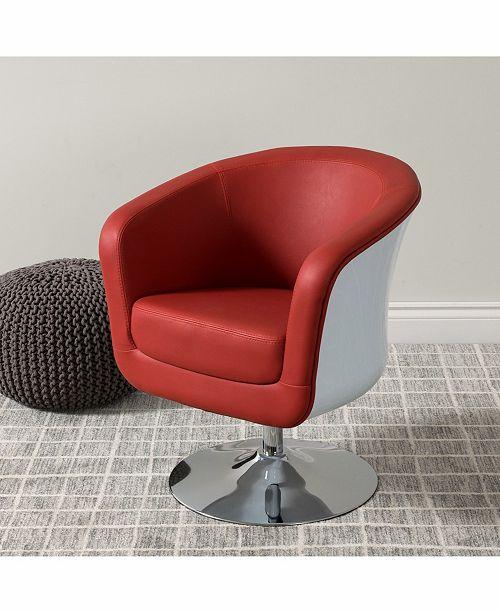 Strange Corliving Modern Bonded Leather Swivel Tub Chair Ibusinesslaw Wood Chair Design Ideas Ibusinesslaworg