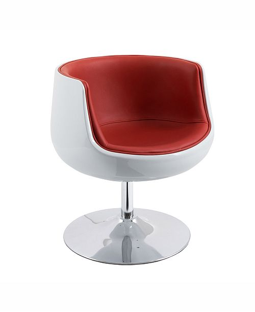 Magnificent Corliving Modern Bonded Leather Swivel Barrel Chair Theyellowbook Wood Chair Design Ideas Theyellowbookinfo
