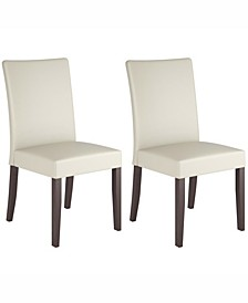 Leatherette Dining Chairs, Set of 2