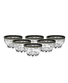 Set of  6 Dessert Bowls with Rich Design