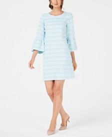 Alfani Fringed-Stripe Shift Dress, Created for Macy's