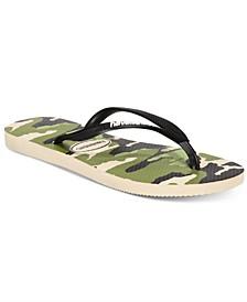 Women's Slim Camo Flip-Flop Sandals