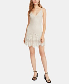 Free People Wowza Crocheted Mini Dress