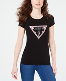GUESS Bandana Logo-Print T-Shirt
