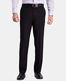 Men's Premium Comfort Straight-Fit 4-Way Stretch Wrinkle-Free Flat-Front Dress Pants