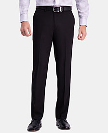 Haggar Men's Premium Comfort Classic-Fit 4-Way Stretch Wrinkle-Free Flat-Front Dress Pants