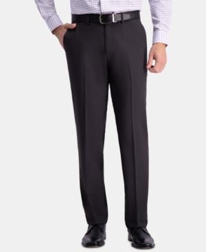 Men's Premium Comfort Straight-Fit 4-Way Stretch Wrinkle-Free Flat-Front Dress Pants