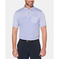 PGA TOUR Mens Athletic Fit Texturized End-On End Pocket Polo