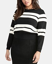 9e1f7317a17f RACHEL Rachel Roy Trendy Plus Size Cecily Striped Sweater