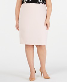 Nine West Plus Size Slim Stretch Skirt