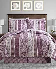 CLOSEOUT! Martina Reversible 8-Pc. Full Comforter Set