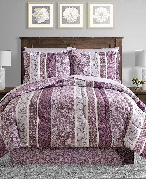 Sunham Martina Reversible 6-Pc. Twin Comforter Set