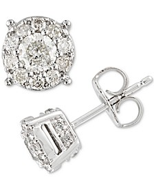 Diamond Halo Stud (1/2 to 1-1/2 ct. t.w.) Earrings in 14k Gold