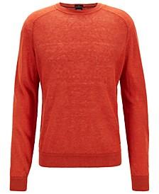 BOSS Men's Regular/Classic Fit Linen Sweater