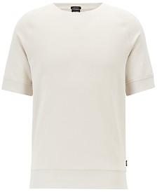 BOSS Men's Short-Sleeve French Terry Cotton Sweatshirt