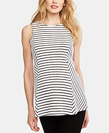 Maternity Striped Peplum Top