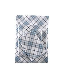 True North by Sleep Philosophy 4-Pc. Cotton Flannel California King Sheet Set