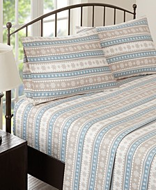 Cotton Flannel 4-Piece Queen Sheet Set