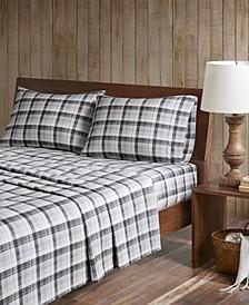 Cotton Flannel 4-Piece King Sheet Set
