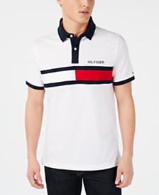 Tommy Hilfiger Men's Big & Tall Logo Graphic Polo, Created for Macy's
